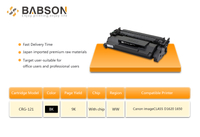 New toner cartridge CRG 054 and CRG 121 for Canon