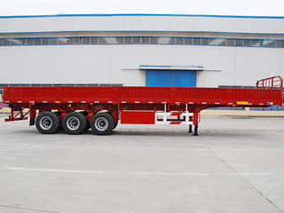 Low Price 3 Axle 50 Ton Sidewall Truck Semi Trailer for Sale