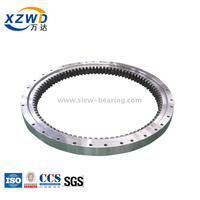 CCS Certified Single Row Four Point Contact Ball Slewing Bearing with Internal Gear for Deck Crane (Q)