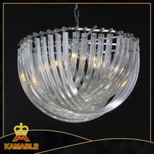 Luxury and transparent effect project crystal hotel pendant light( KR0116P-5R)