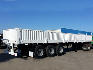 Hot Sale!! 3 Axle Sidewall Tractor Cargo Truck Semi Trailer