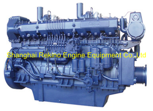 600HP 1000RPM Weichai medium speed marine diesel engine (8170ZC600-1)
