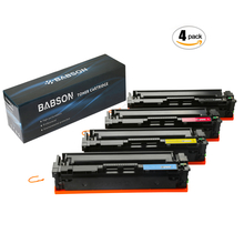 BABSON Compatible HP 410A CF410A CF411A CF412A CF413A High Yield Toner Cartridge for HP Color LaserJet Pro MFP M477fdn M477fdw M477fnw,Pro M452dn M452nw M452dw M377dw Printers, 4 Pack(B/C/M/Y)