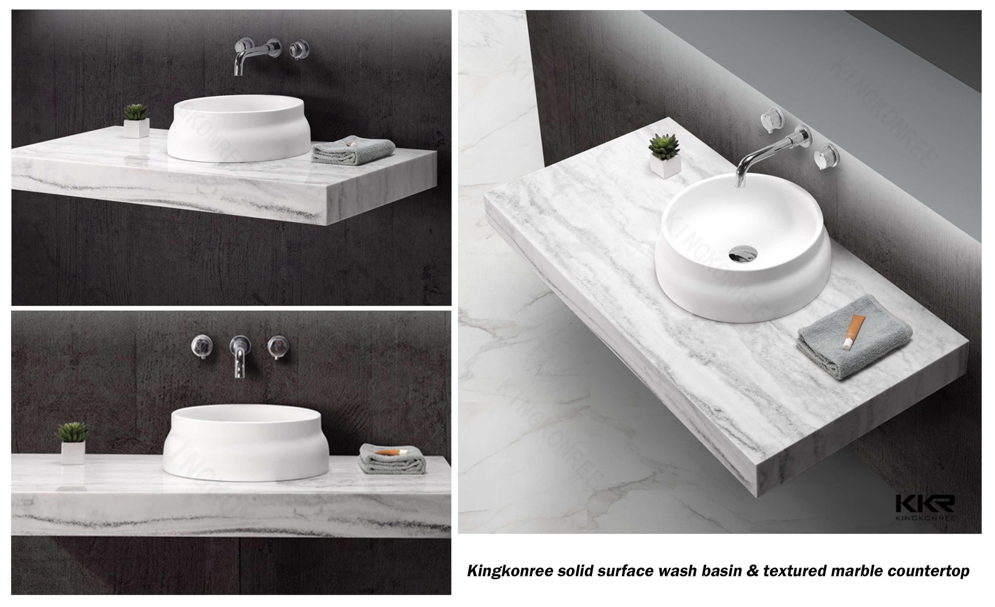 A countertop basin is the perfect solution to space and for 0 bathroom installation