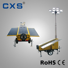 Trailer Mounted Diesel Solar Light Tower Telescopic Explosion Proof