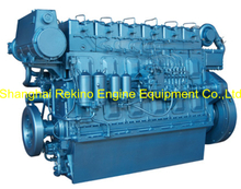 250HP 850RPM Weichai medium speed marine diesel engine (R6160ZC250-5)