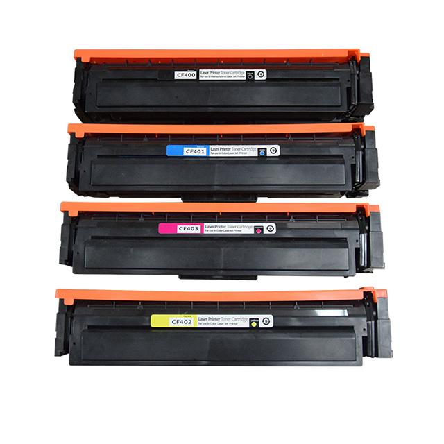 Compatible with CF400A Toner Cartridge for HP M252dw M252n M274n M277dw Cartridge high Volume No Leakage Office Supplies Print 1400 Pages-Fourcolor