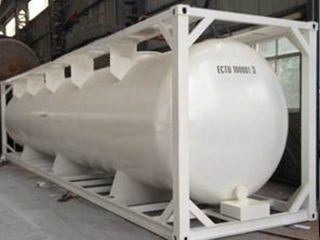 Carbon Steel 20FT Corrusive Chemical Liquid Tank Container for Semi-Trailer