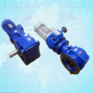 Helical gearbox and speed variator