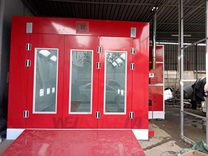 Full Downdraft Car Painting Booth In Nairobi,Kenya