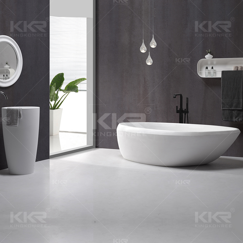 Man made stone bathtub KKR-B081 from China manufacturer - solid ...