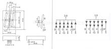 """1 Digit 1.8"""" LED 5-Segment (WD18012-A/B)"""