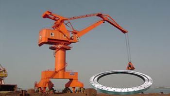 The application of slewing ring bearing for Harbour and shipyard cranes