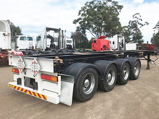 4 Axle 50-60T Heavy Skeleton Semi Trailer