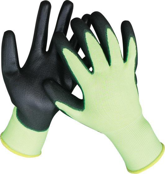 HIGH VISIBILITY PU GLOVES