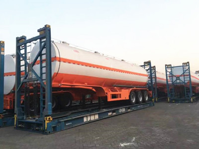 35CBM/35000L Carbon Steel Fuel Tanker Semi Trailer for Oil