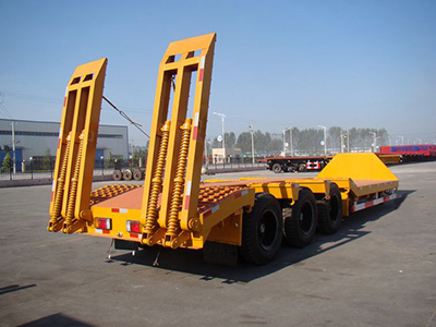Yellow Best Price 3 Axle 40 Ton Low Bed Truck Semi Trailer