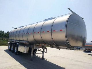 40000L -60000L FUWA/BPW Axle Aluminum Edible Oil /Cooking Oil Tank Semi Trailer