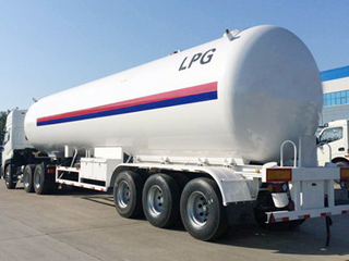 3 Axles 35500Liters 14910Kgs LPG Gas Transportation Tank Trailer