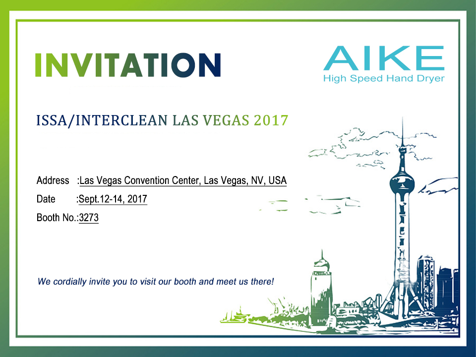 Exhibition Booth Invitation : Invitation from aike hand dryer exhibition on the world s