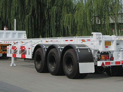3 Axle 50T Heavy Skeleton Semi Trailer