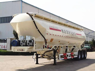 Tri Axles Vertical Flour Semi-Trailer Tanker Flour Transport Tank Truck Tractor Trailer