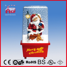 (P16029E) Santa Claus Christmas Lighting Decoration with Snow