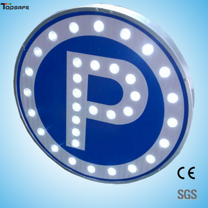 Solar LED Round parking sign