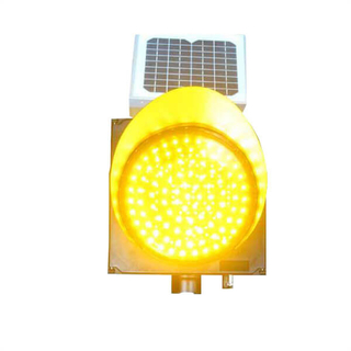 Solar LED yellow flashing lights