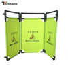 Yellow Portable Plastic Road Safety Expanding Barrier