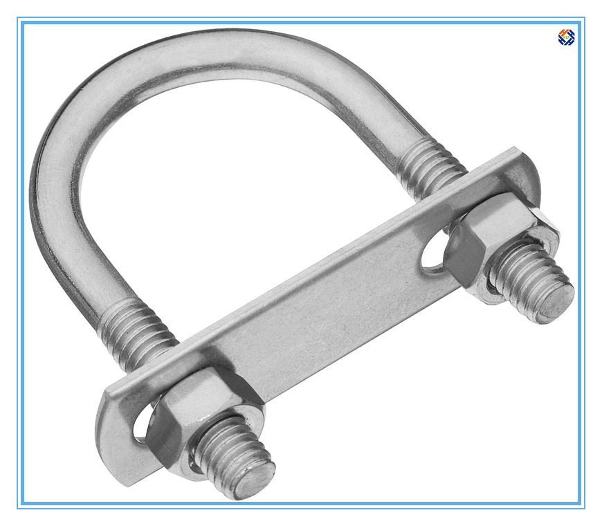 U Bolt with nuts and front plate made by carbon steel or Stainless steel 304 316