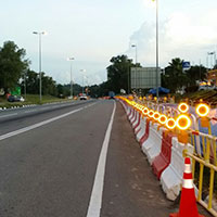 Solar Barricade Light Project in Brunei
