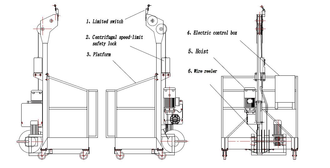 zlp250高处作业吊篮 用于临时的大楼外墙检查,维护和其他的高处施工