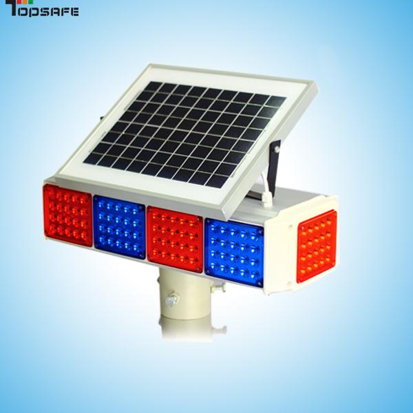 China Solar Powerd Led Warning Flashing Light Solar