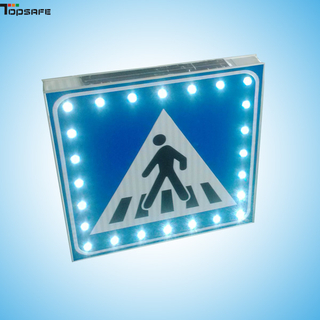 Solar powered crosswalk signboard
