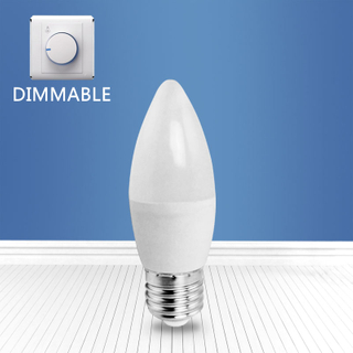 dimmable A3-C37 6W E27 LED candle bulb