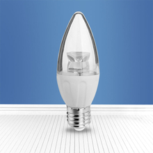 JINGYING LED 4W E27 C37 LED Bulb Light Pipe