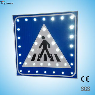 Solar led crosswalking sign