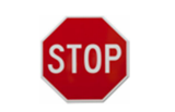 Traffic Stop and give way Sign