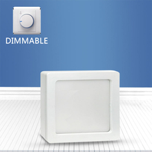Dimmable Square surface mounted panel light 12W