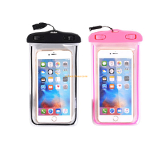 "Universal 6"" waterproof case cover underwater dry pouch for cell phone for iphone 7, waterproof swimming pouch"