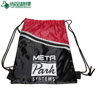 Drawstring Backpack Bag with Front Zipper Pocket (TP-dB046)