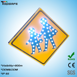 LED crosswalk signboard,pedestrian sign