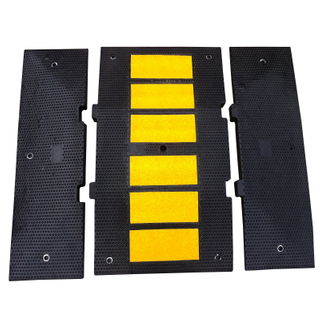 Traffic Calming Rubber Speed Hump (L600xL500xH50mm) for speed limit of (40 km/hr.)