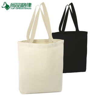 Wholesale Plain White Shopping Tote Cotton Bag (TP-SP057)