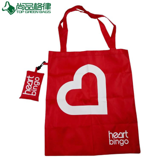 Promotional Recycle Polyester Foldable Bag Round Handles (TP-FB065)