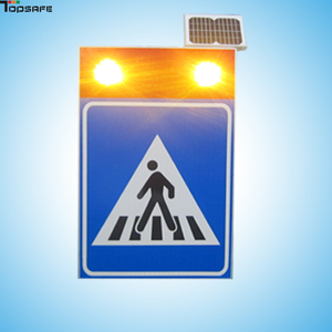 Solar pedestrian sign