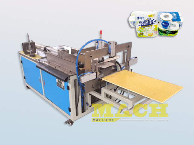 Semi-Automatic Toilet Paper Rolls Bundling Machine