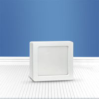 Square surface mounted panel light 6W