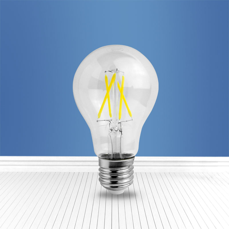 filament glass bulb A60 4W